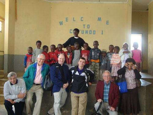 2nd Pres. Group with children at the Center for Orphans and Vulnerable Children