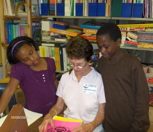 Math buddies at Chimborazo Elementary School