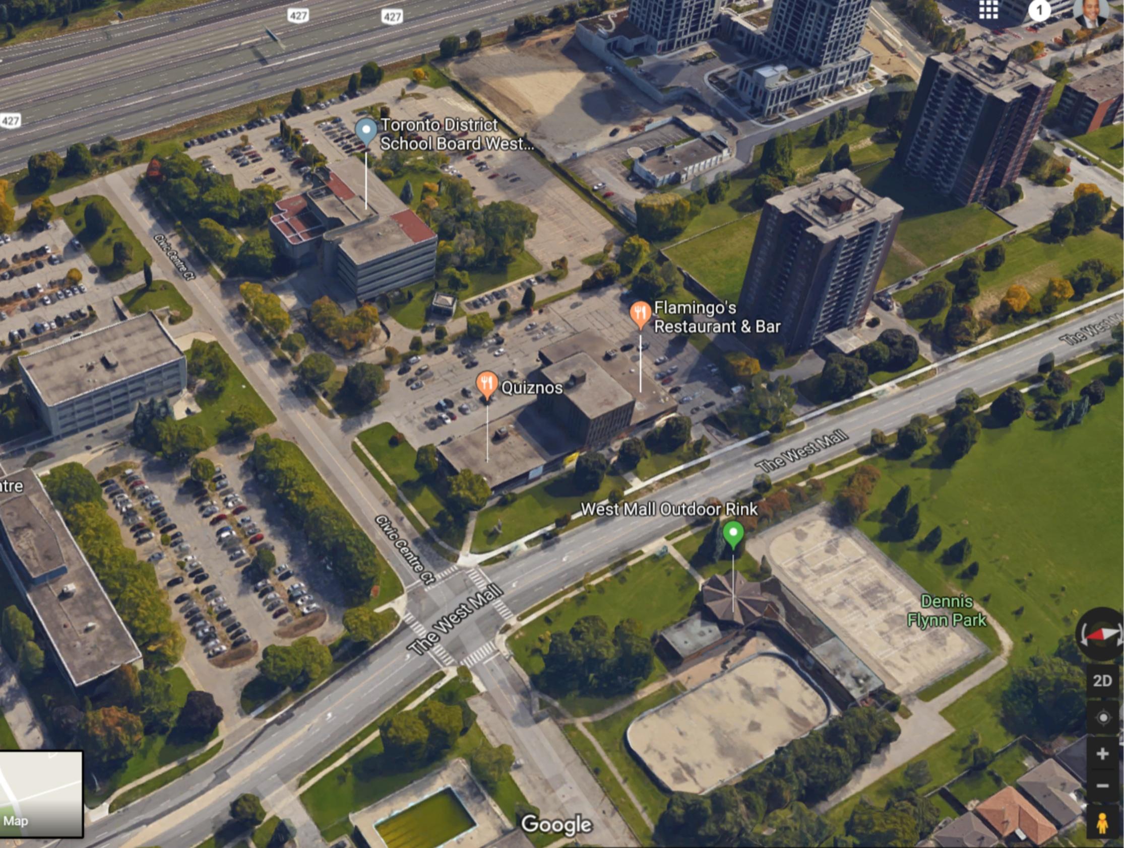 Google aerial 385 The West Mall.jpg