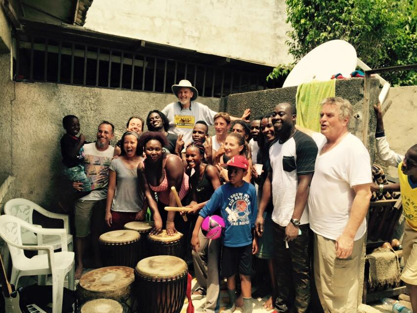 African Drum and Dance class in Abidjan, the capital of Ivory Coast.