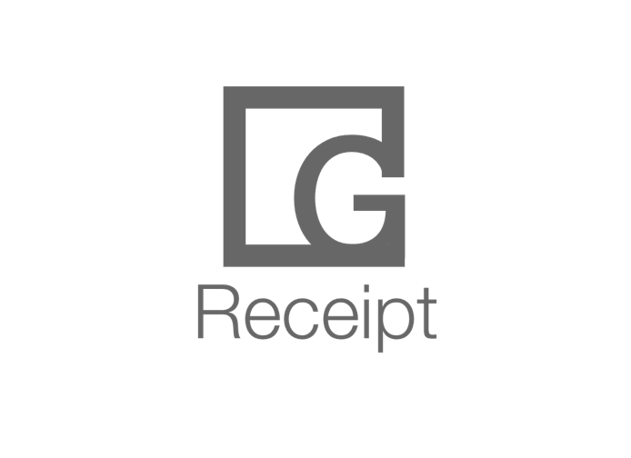 - After few hours I came up with new logo and concept for the logo. Squares are stable, represent trust, order, and security. Square in G-Receipt logo suggests security because G-Receipt is dealing with significant personal and data information of the users. G-Receipt, also wanted its brand represented trustworthy, as well as simple, minimal and memorable. When users see this logo for the first time, G-Receipt wants to be easy for them to remember logo and connect that with simplicity, minimalistic and trustworthiness of G-Receipt brand.