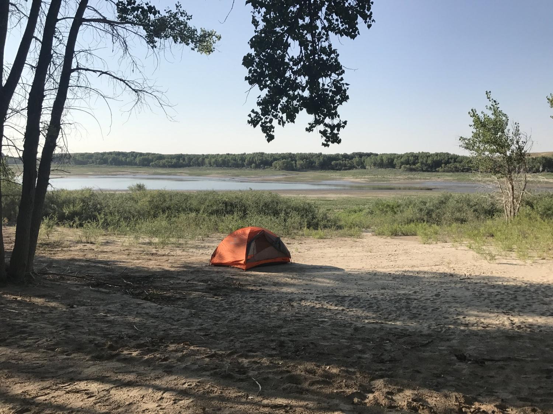 Solitude at Glendo Reservoir campsite after the eclipse.