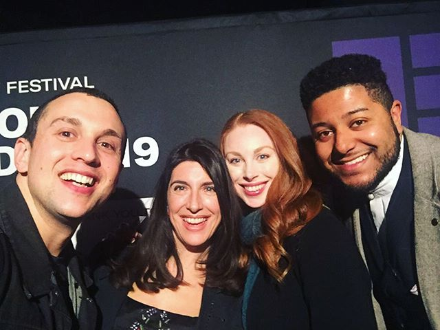 Spent a great night at the @edinburghtvfest #newvoiceawards celebrating Emily Corcoran's nomination for her pilot #ShesGotBalls. I'm desperate to share some pics from when we shot this but I'm still not allowed. 🙈 Congratulations to everyone who won and was nominated. I'm in awe of you all. X