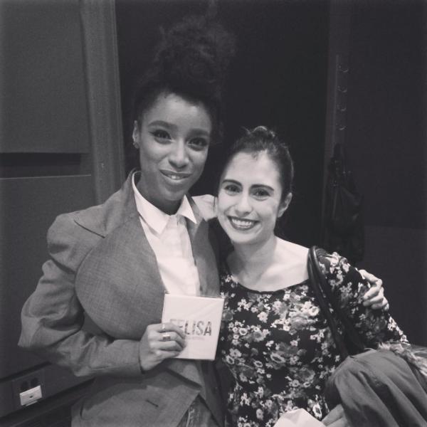 Con Lianne La Havas después de su concierto en Boston.