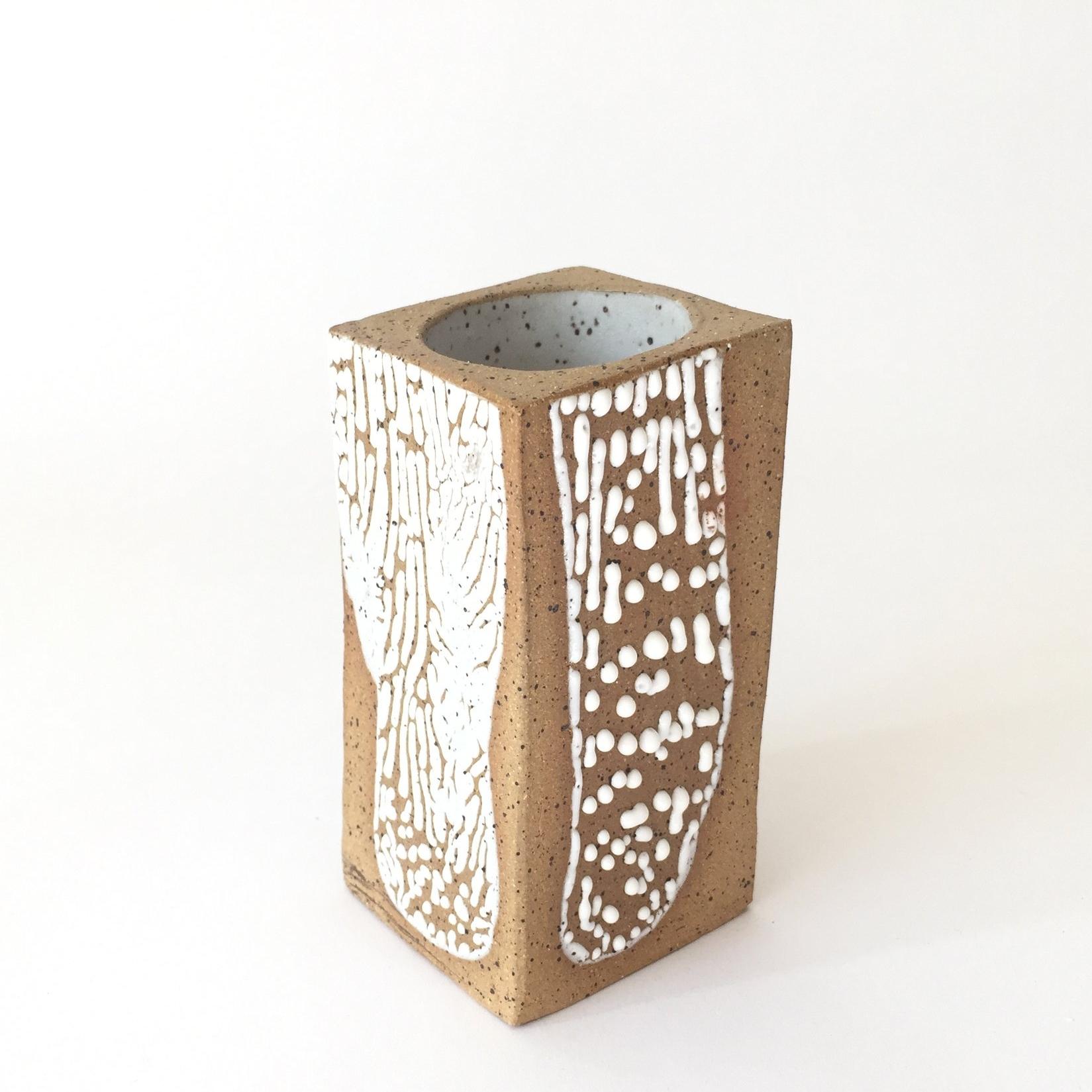 "Peninsula Small  Glaze on speckled stoneware. 4""H x 2.5""W x 2.5"" Wholesale 16"