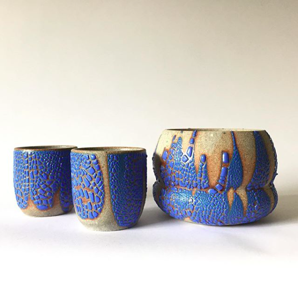 Blue Fjord Planters and Cups
