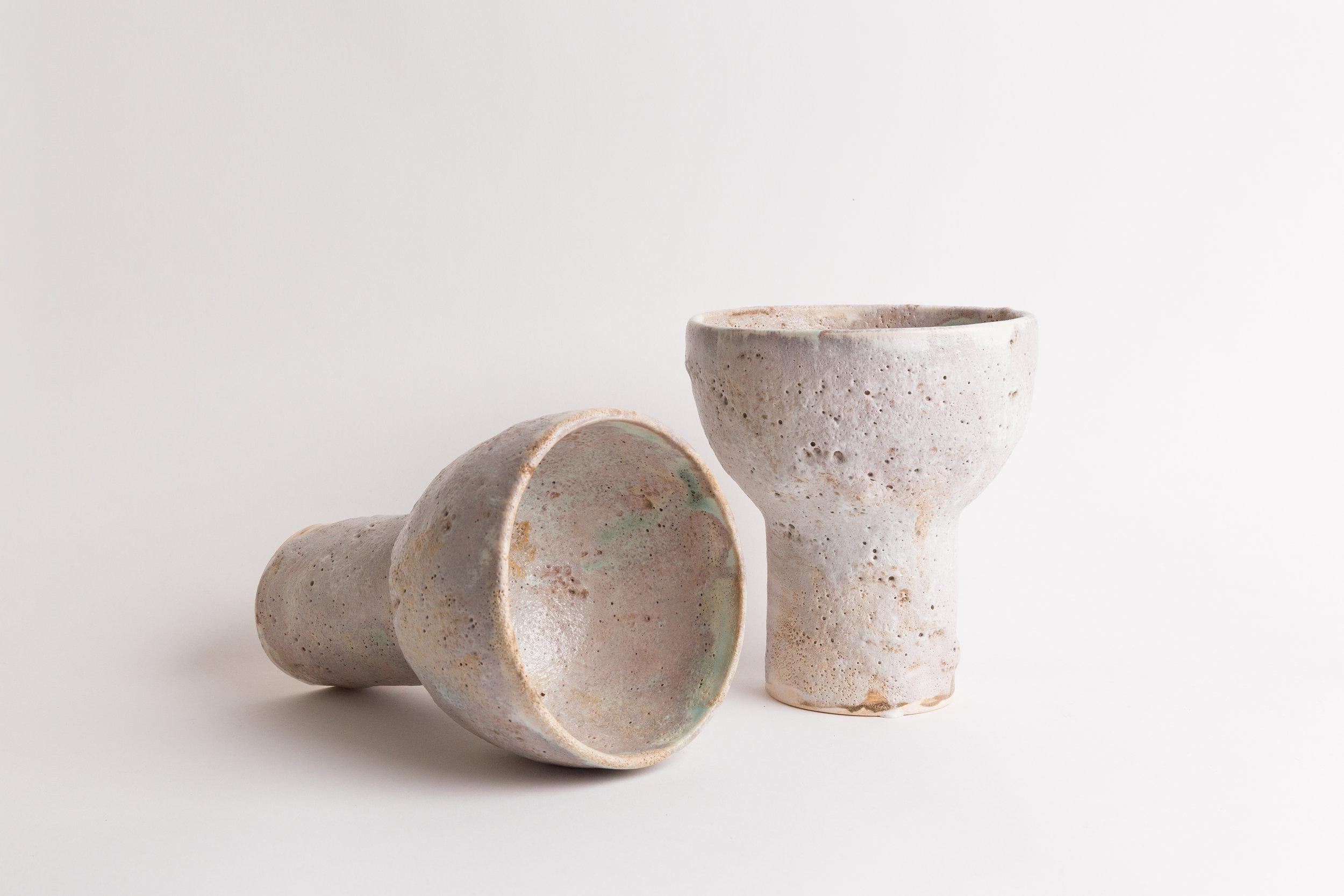 "Pedestal Bowl   Small, 6""H x 4""W, wholesale 140 Medium 10""H x 7""W, wholesale 160"