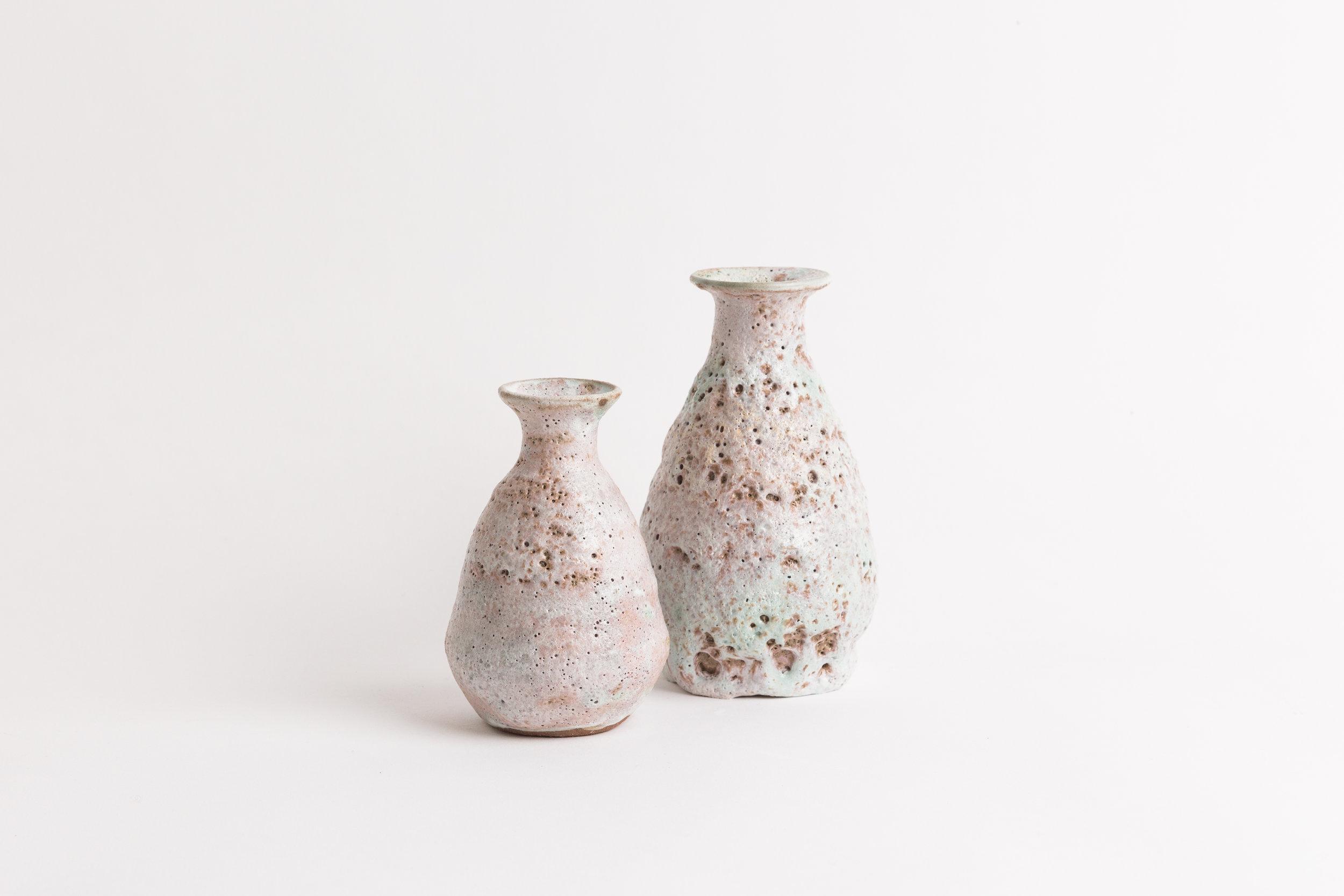"""Bottle Vases  Small, 4""""H, wholesale 58 Medium, 6""""H, wholesale 70 Large, 8""""H, wholesale 85"""