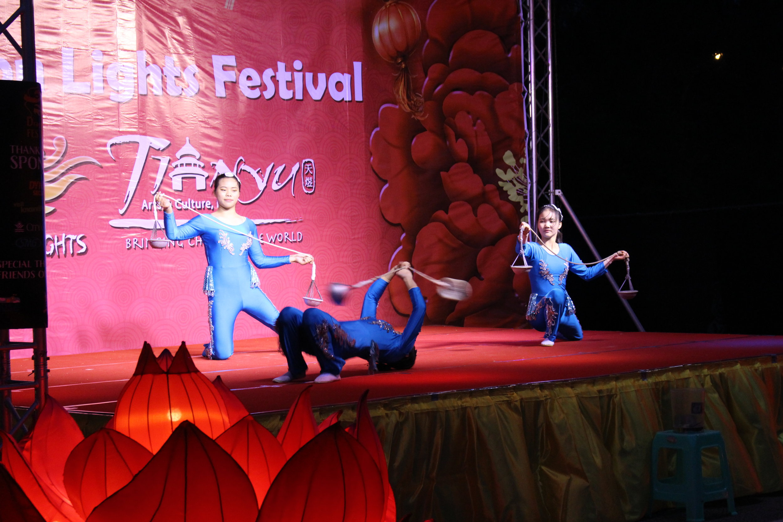 The festival also features performances multiple times throughout the night.