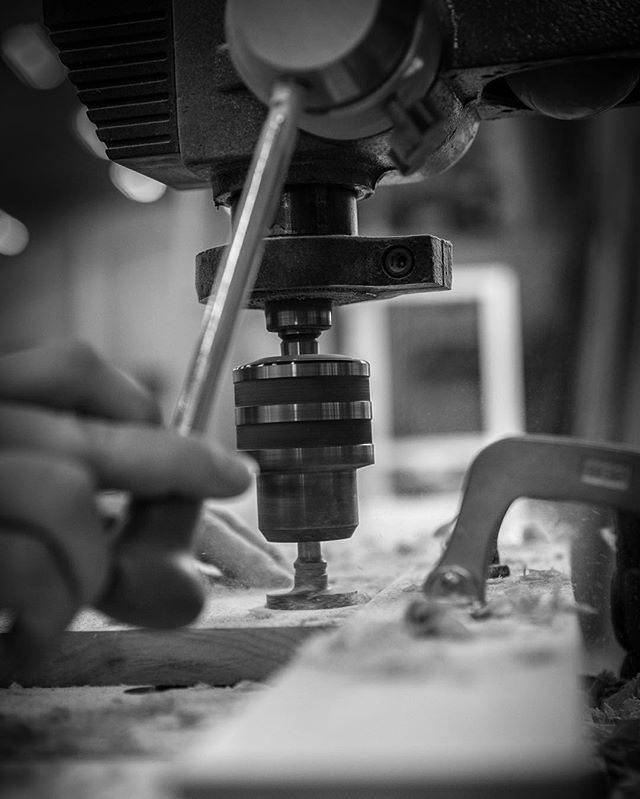 Drilling hinge holes for the entertainment center we are building. More pictures to come... #drilling #drillpress #sawdust #carpentry #simple #cabinet #cabinets #cabinetry #woodart #woodshop #woodworking #craftsmanship #art #passion #work #thecraftsmangroup #love #tools #perfection