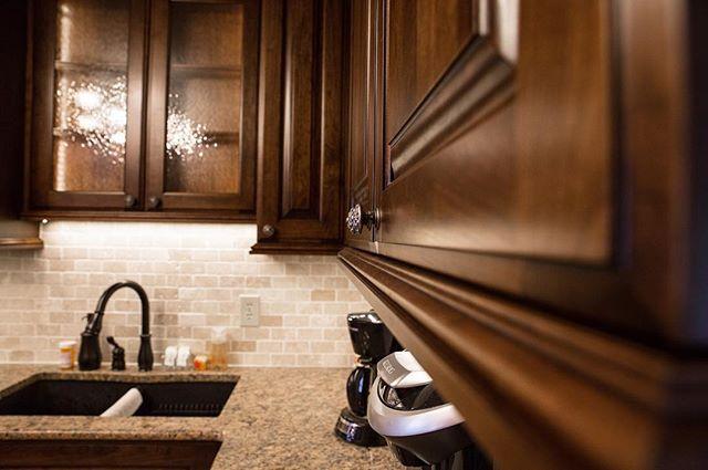 Lighting installed and looking great! Pt. 3 #cabinets #woodworking #love #wood #grain #woodwork #cherry #cabinet #lighting #finish #stain #doors #finewoodworking #craftmenship #craftsman #art #artform