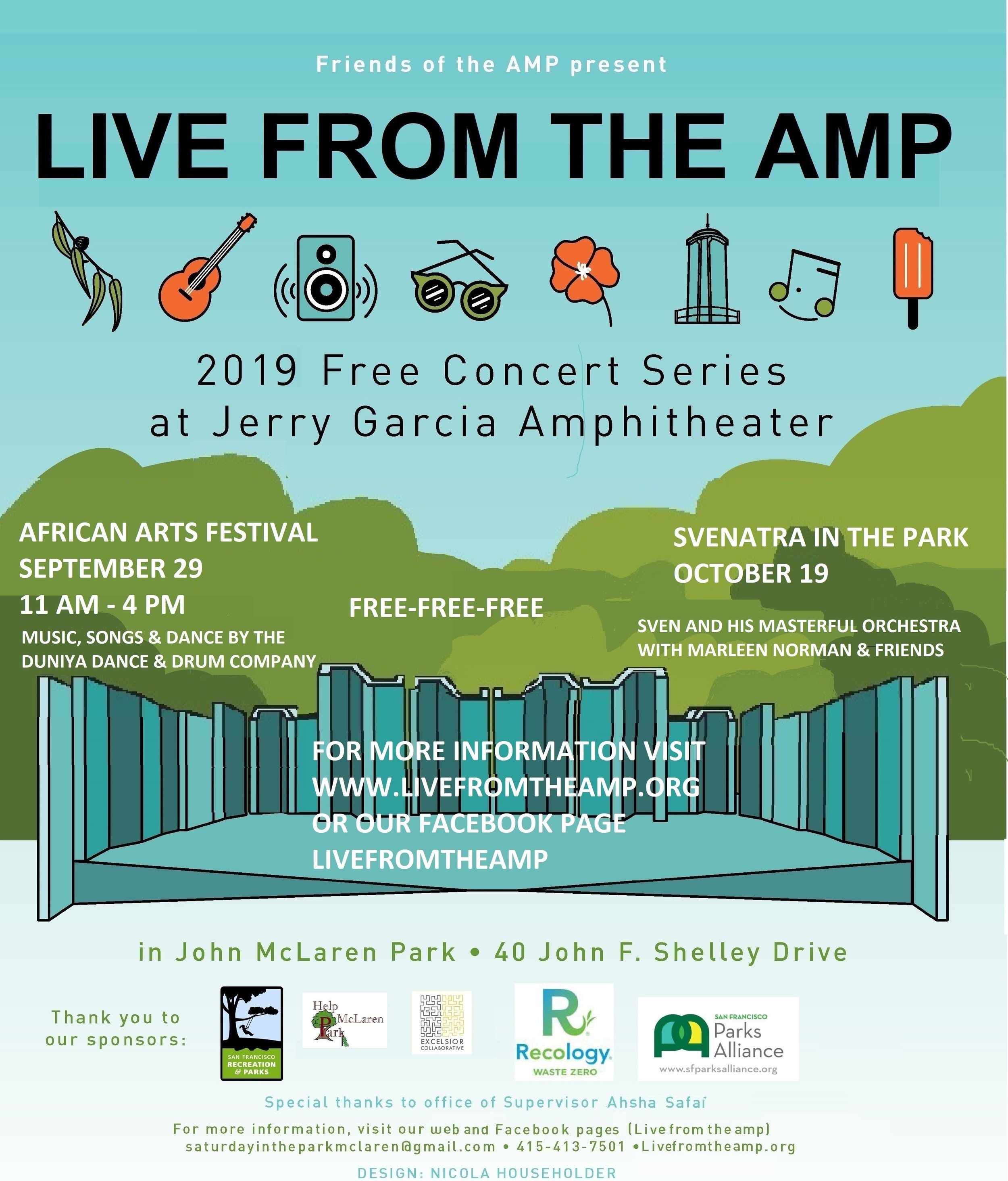 "The Free ""Live From the AMP"" Shows Continue at the Jerry Garcia Amphitheatre!"