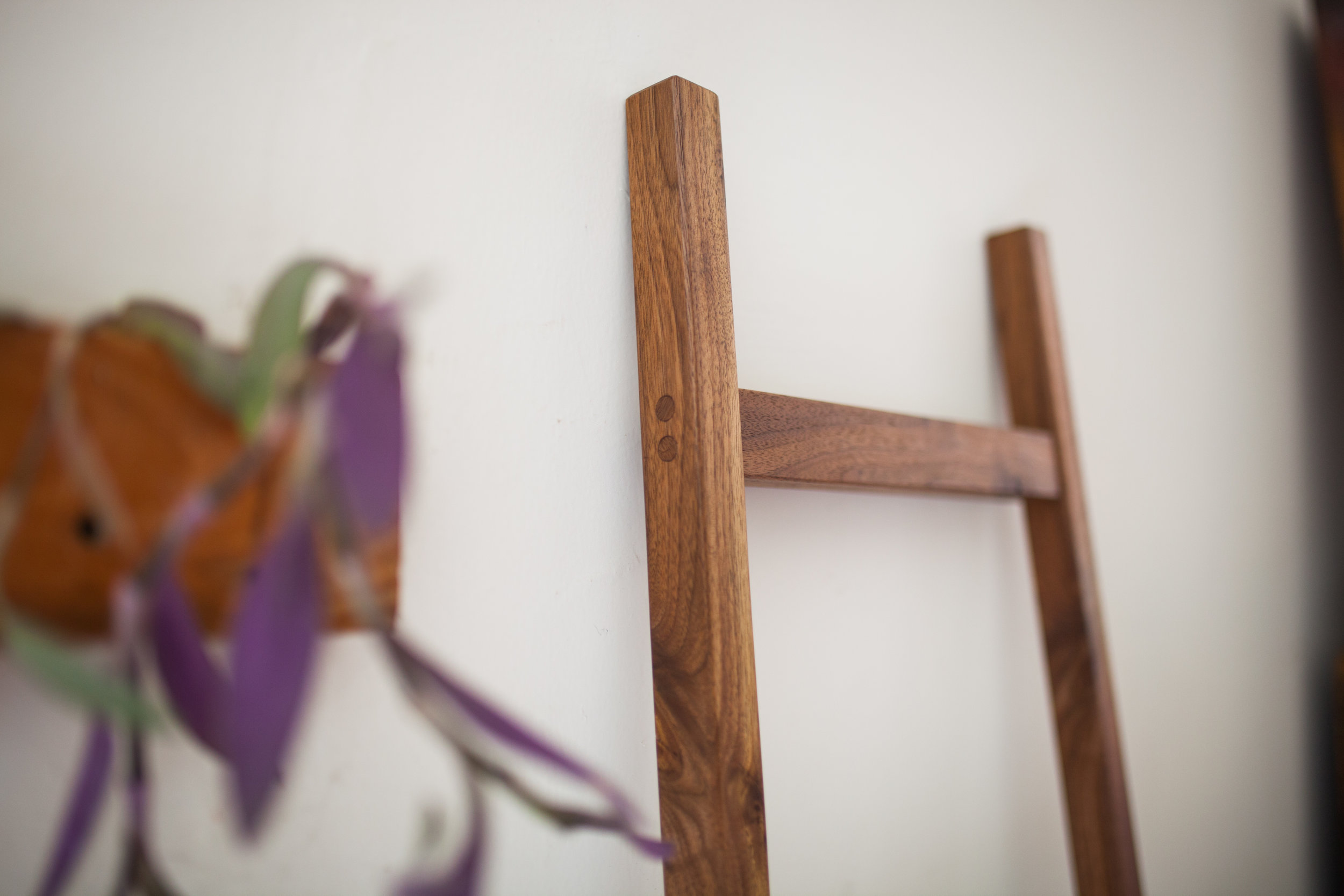 walnut ladder joinery