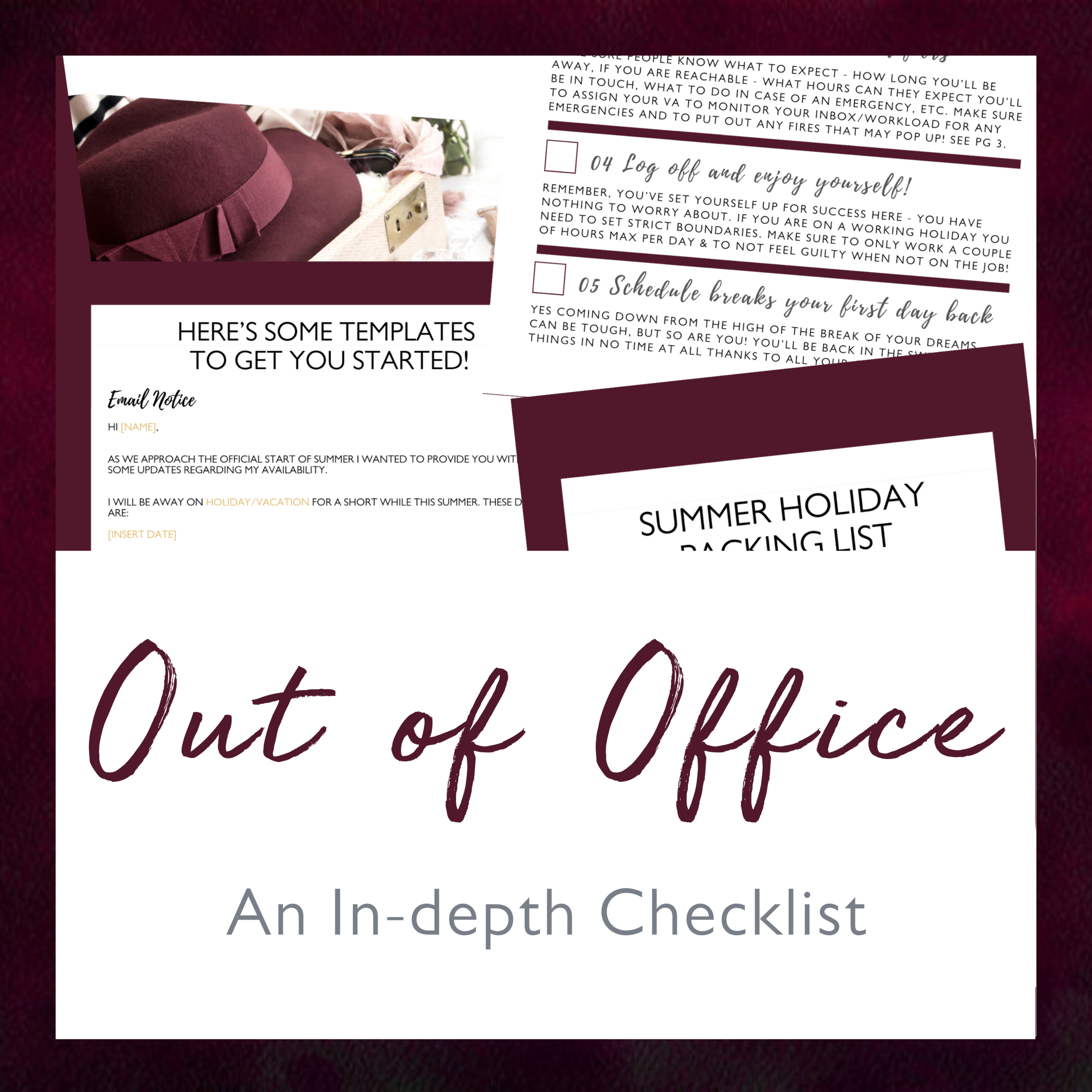 In the hustle to get everything done before you sign off and relax - there are so many things you can forget. Use this handy reusable checklist to make sure you don't!