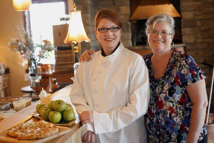Susan and our very first chef, Laurie