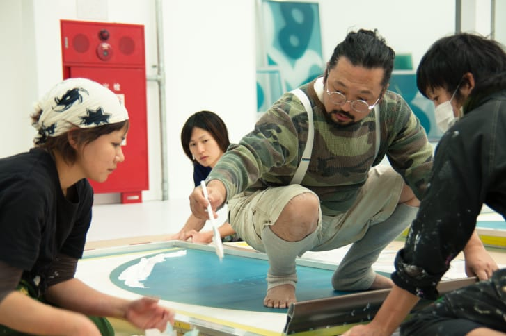 Takashi Murakami in the studio. Credit: Kenta Aminaka, via CNN
