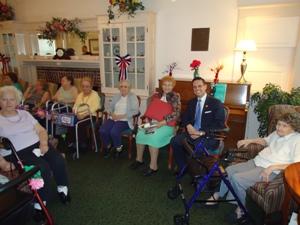 Assemblyman Angelo Santabarbara Visits With Ladies