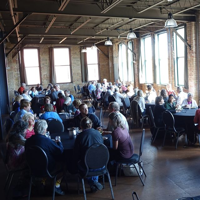 full house for lunch during the Night Sky Seminar at Clyde Iron Works