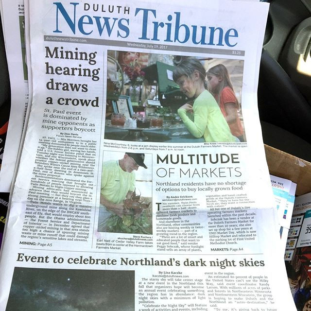 thank you Duluth News Tribune!