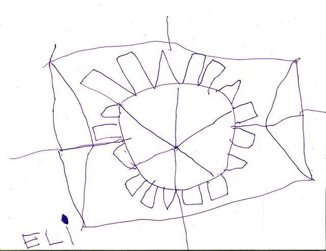 Eli drew this of our daytime star, the Sun, at the Duluth Harvest Festival