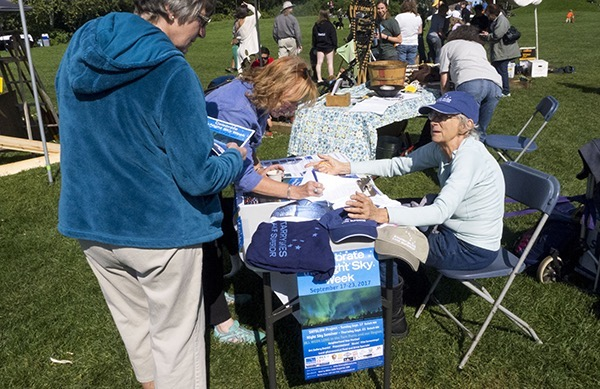 Talking Starry Skies at the Harvest Festival in Duluth in September