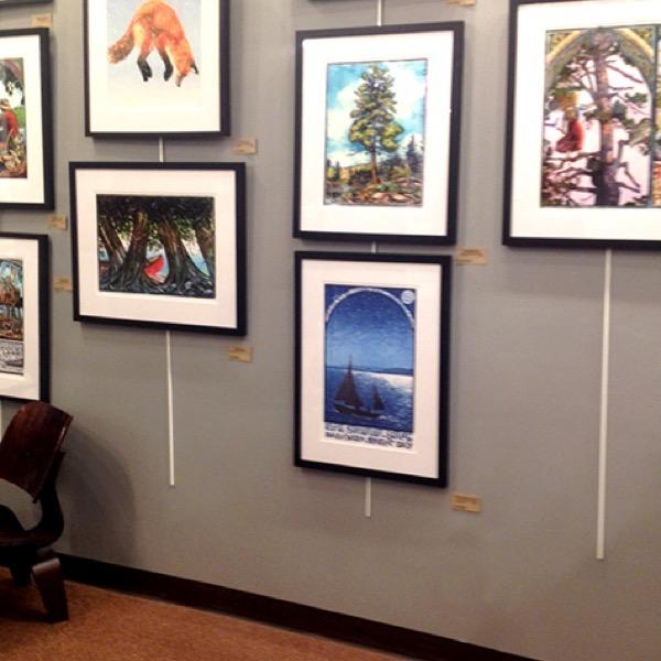 Sievertson's in Grand Marais sporting Rick Allen's amazing Starry Skies Lake Superior print!