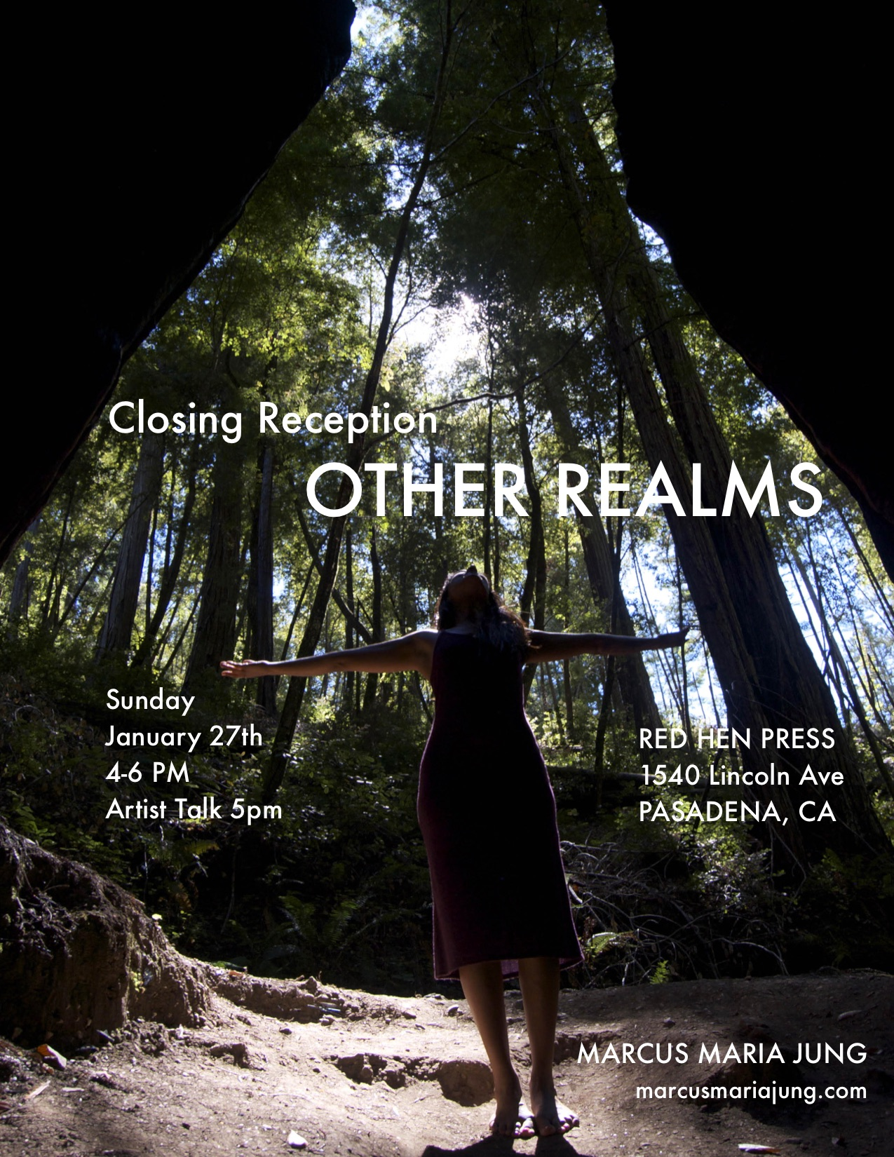 CLOSING RECEPTION  OTHER REALMS  RED HEN PRESS, PASADENA, CA SUNDAY, JANUARY 27th, 2019, 4-6 PM, ARTIST TALK 5 PM