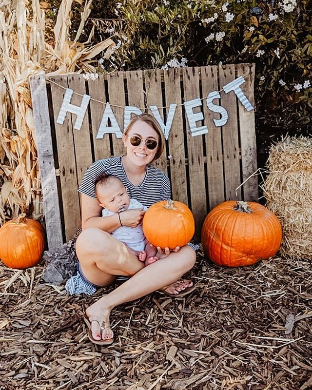 I've been loving the cooler weather lately, haven't you? Happy Harvest! 🍂 It's been fun taking London to fun spots even though I don't think he cares if he gets a pumpkin or not. Whenever there is a perfect opportunity for a photo London doesn't cooperate. 😂 🎃