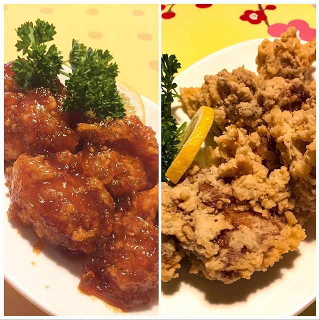 Our chicken karaages are fried to perfection. Crispy on the outside + juicy and tender on the inside. Have you tried both of our karaages?  #chickenkaraage #portmoody #bc #japanesefood #friedchicken #eats #munchies #chicken