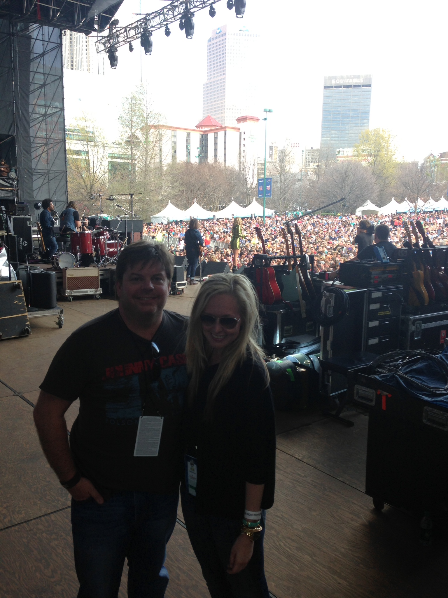 On stage for Grace Potter