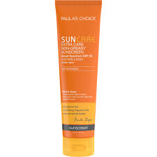Great sunblock for the body. Non-greasy and not too heavy with fabulous coverage.