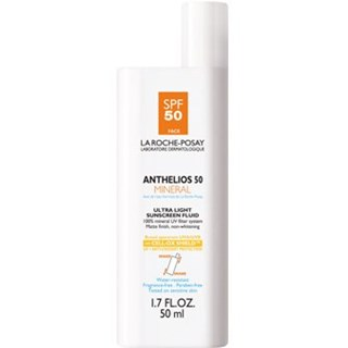 A very light and fragrance free mineral sunblock that is appropriate for oily skin types. A lot of my clients that don't like heavier mineral sunblocks, really enjoy this coverage. It's extremely light. Doesn't contain the most antioxidants but it is sufficient sun protection safe for acne prone skin types.