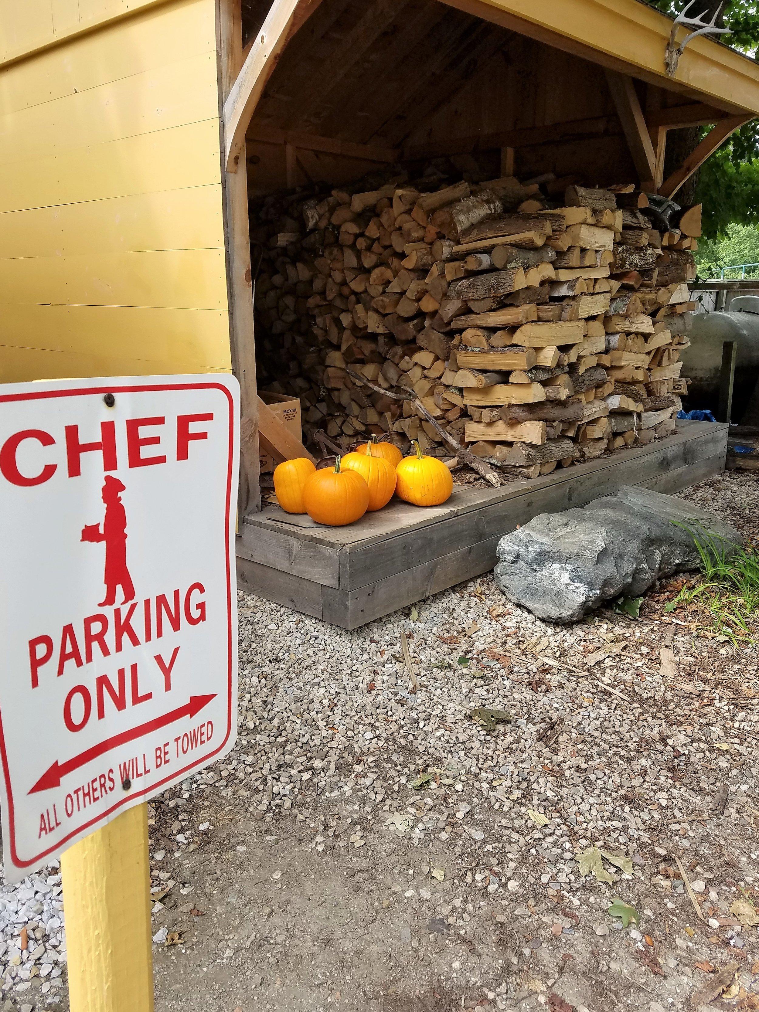 Sept 2016 pumpkins wood and chef sign.jpg