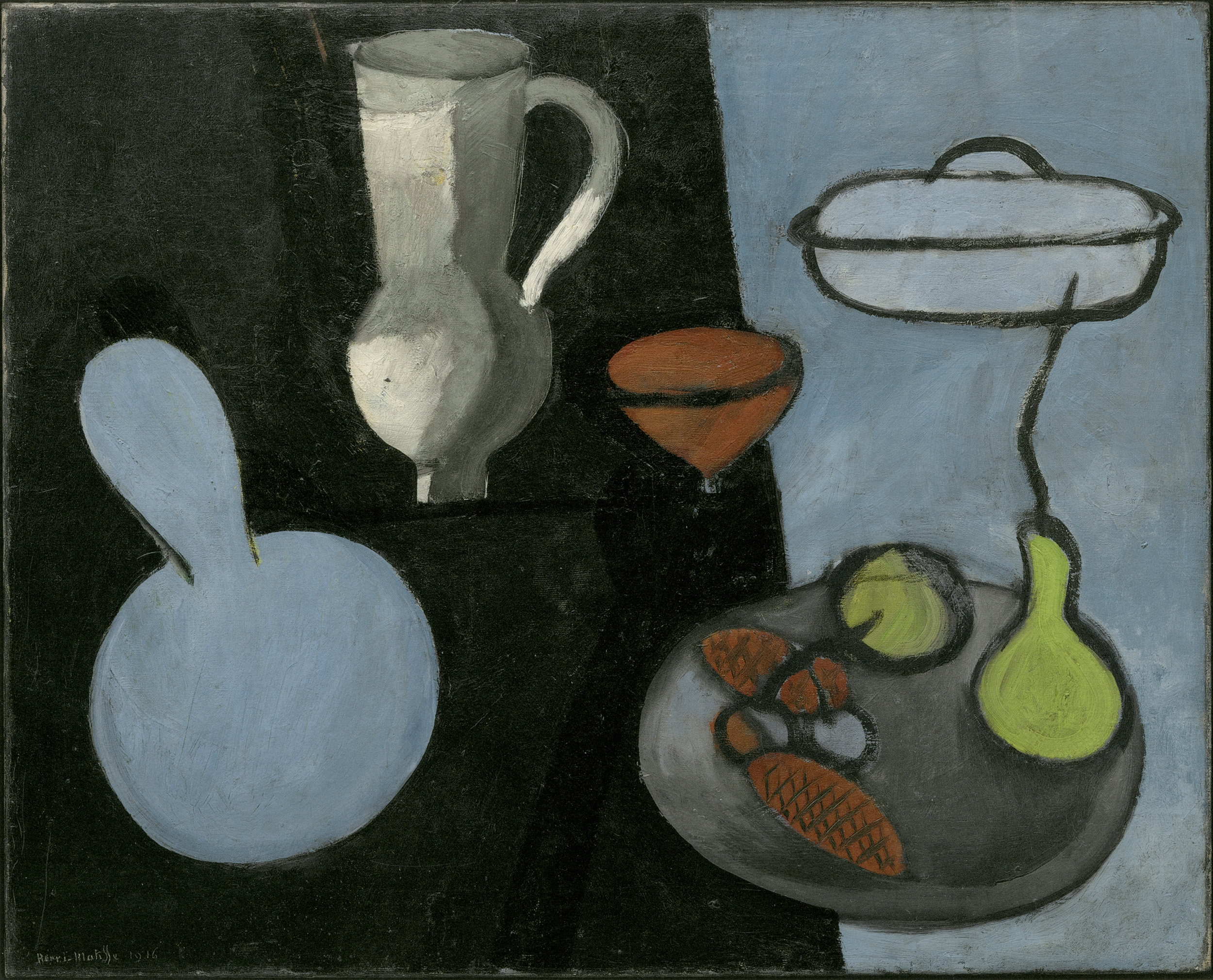 Henri Matisse, Gourds, Issy-les-Moulineaux, 1915-16 Oil on canvas, 65.1 x 80.9 cm The Museum of Modern Art, New York. Mrs. Simon Guggenheim Fund, 109.1935 Photo © Archives H. Matisse © Succession H. Matisse/DACS 2017