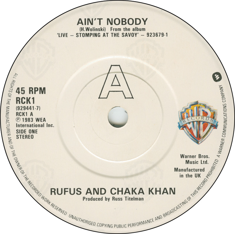 Party track? - Chaka Khan's Ain't Nobody