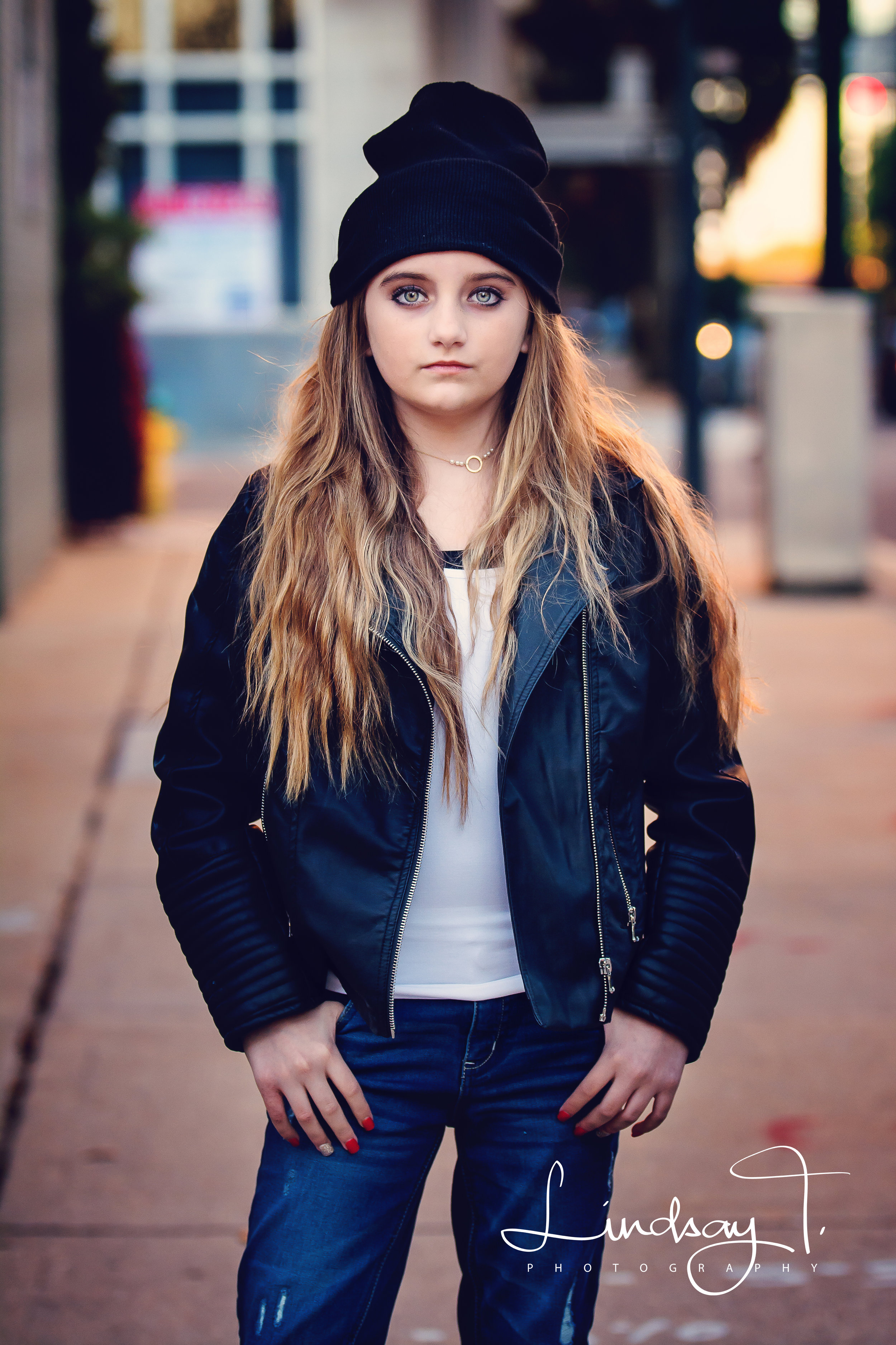 Downtown Mobile Alabama session with 12 year old model Kaitlynn who is a model for Loped