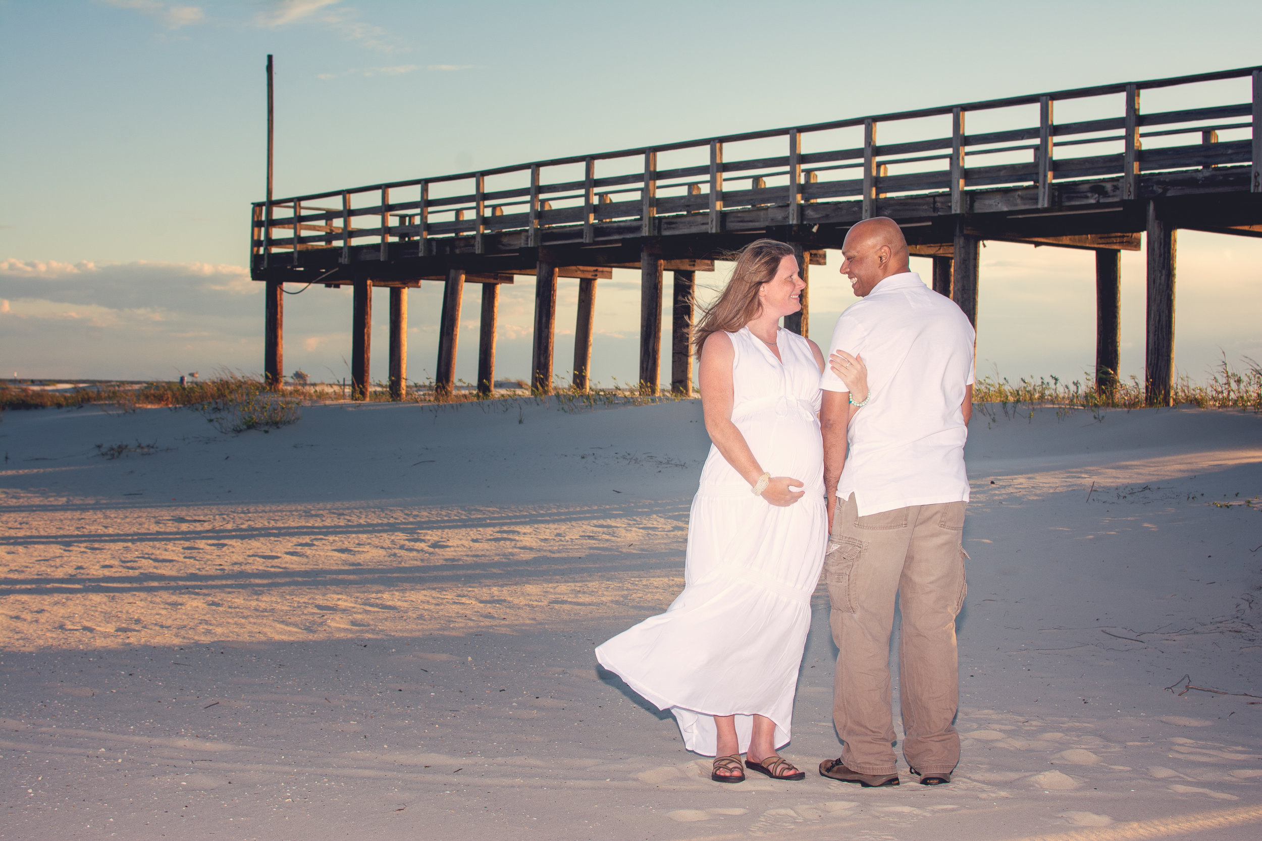 maternity session dauphin island mobile Alabama