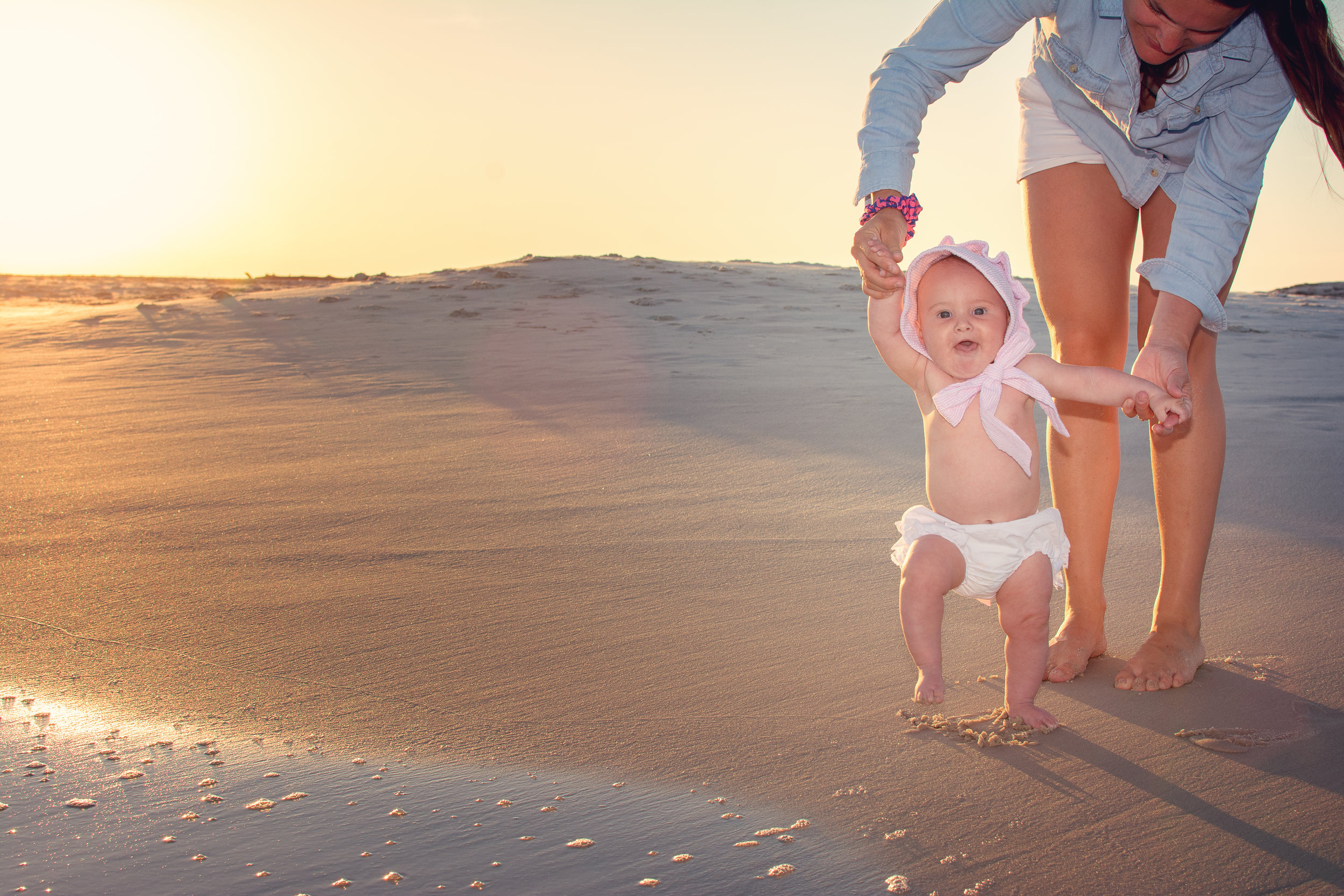 dauphin island mobile alabama beach portrait session 6 months