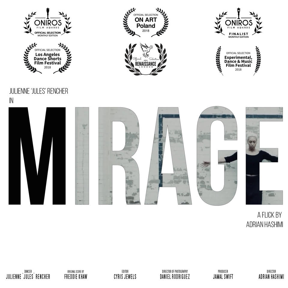 "Recognition of Excellence in Filmmaking Award: Mirage2018 - Mirage was honored to received this award in London at the New Renaissance Film festival. Mirage entered in more than 10 film festivals around the world; including Poland, NYC, Los Angeles and more. Please click the ""LEARN MORE"" tab below for more information."