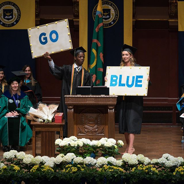We are proud to have SBA representation at graduation! Congrats to Katharine Bohlmann and Efe Edevbie for a fantastic kinesiology commencement speech and to all of our 2019 graduates!