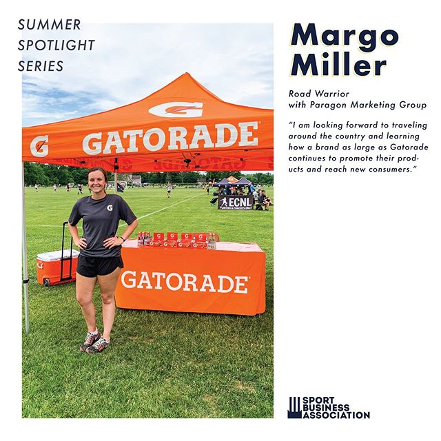 SUMMER SBA MEMBER SPOTLIGHT  Here's what some of our members are doing this summer!  Margo Miller: Junior | SM | Paragon Marketing Group Conner Edmonds: Senior | SM | Pebble Beach U.S. Open Intern