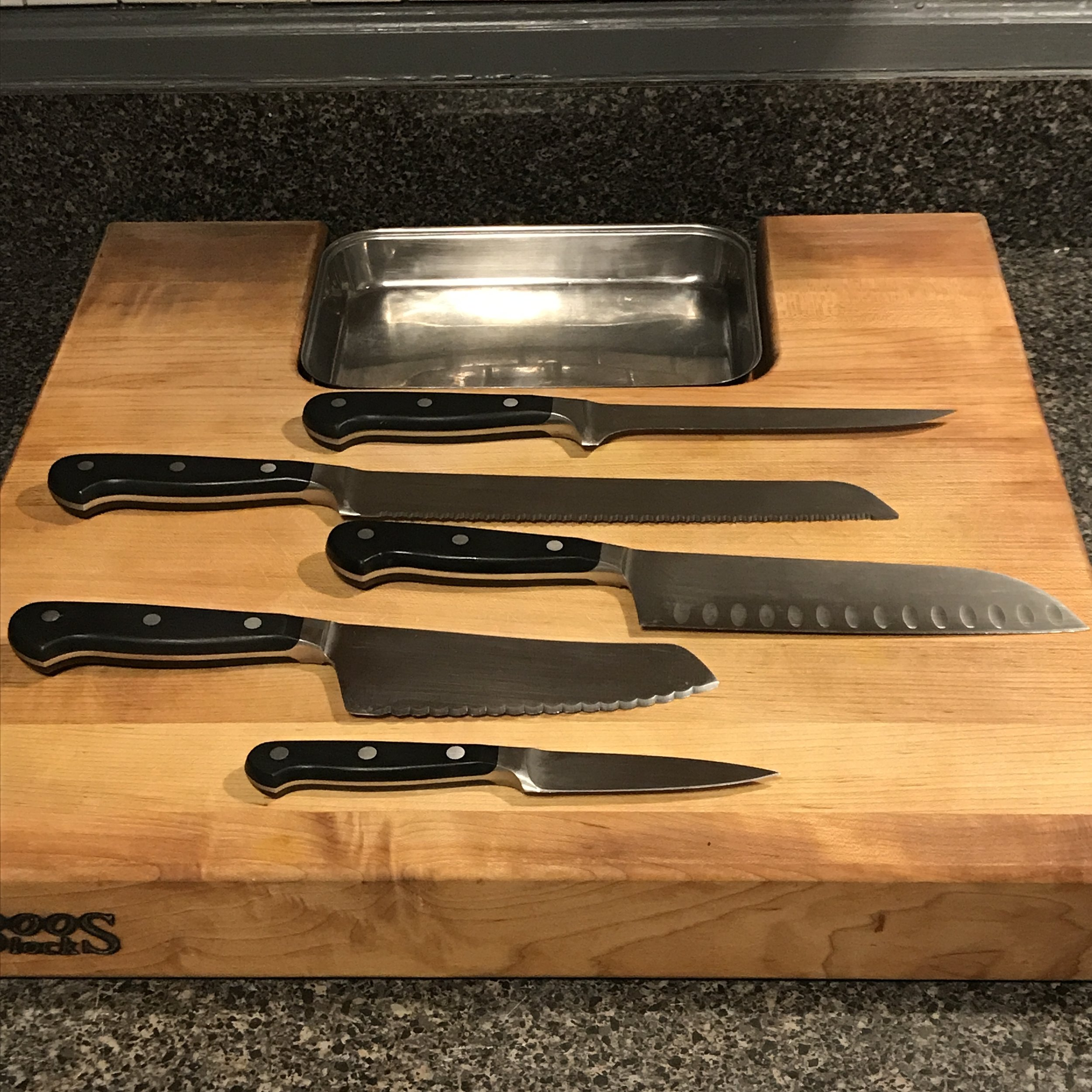 Knives that cut. - Sharp knives that cut which are easy and safe to use is the starting point in our kitchen. It's the tool that gets the most mileage. We invest knives from my favorite brand Wüsthof. They're our #1 staple (and we even bring them along with us when we travel around the world).Want to hone your knife skills? Check out Wüsthof's FREE knife skills classes.