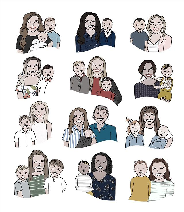 Happy mom's day to all the strong women who are rejoicing and celebrating and grieving and hoping and loving today. You are seen and you are loved and you are killin' it. ❤️🎉 This image doesn't even touch the surface of the sweet moms I've gotten to doodle over the years. You wouldn't believe the rockstar mamas I get to create for and with! Just a bunch of GEMS. GEMS I TELL YOU.