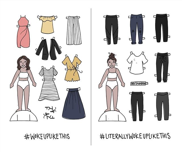 If paper dolls had Instagram... or reality.