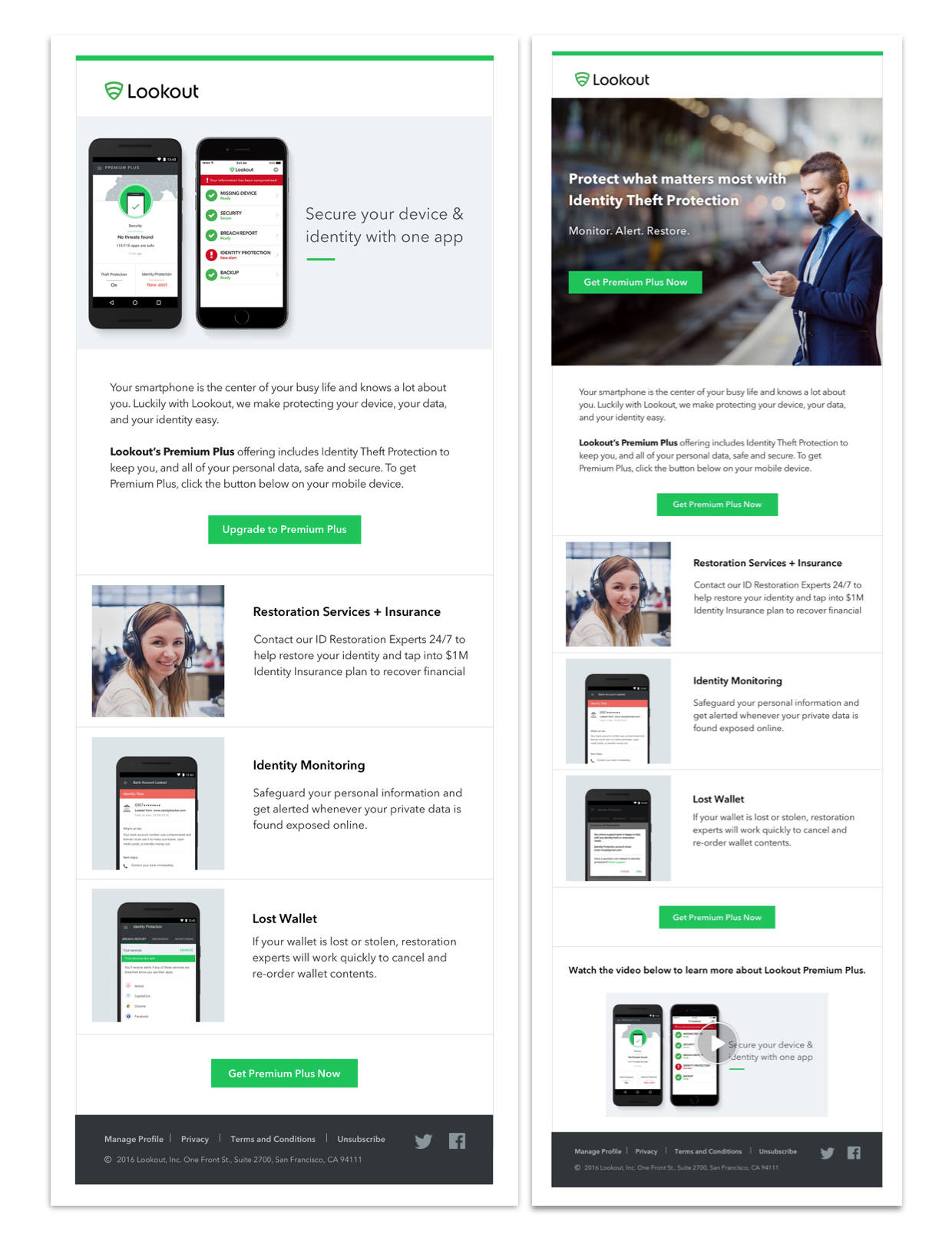 New flexible, email marketing template.