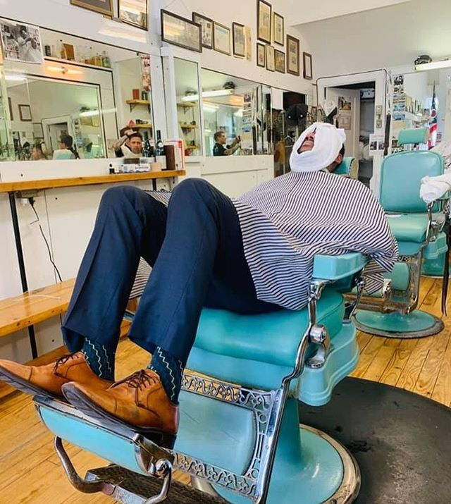 Life is good when you're at Ferrari Barbershop folks! Come by this week for a trim and a shave.