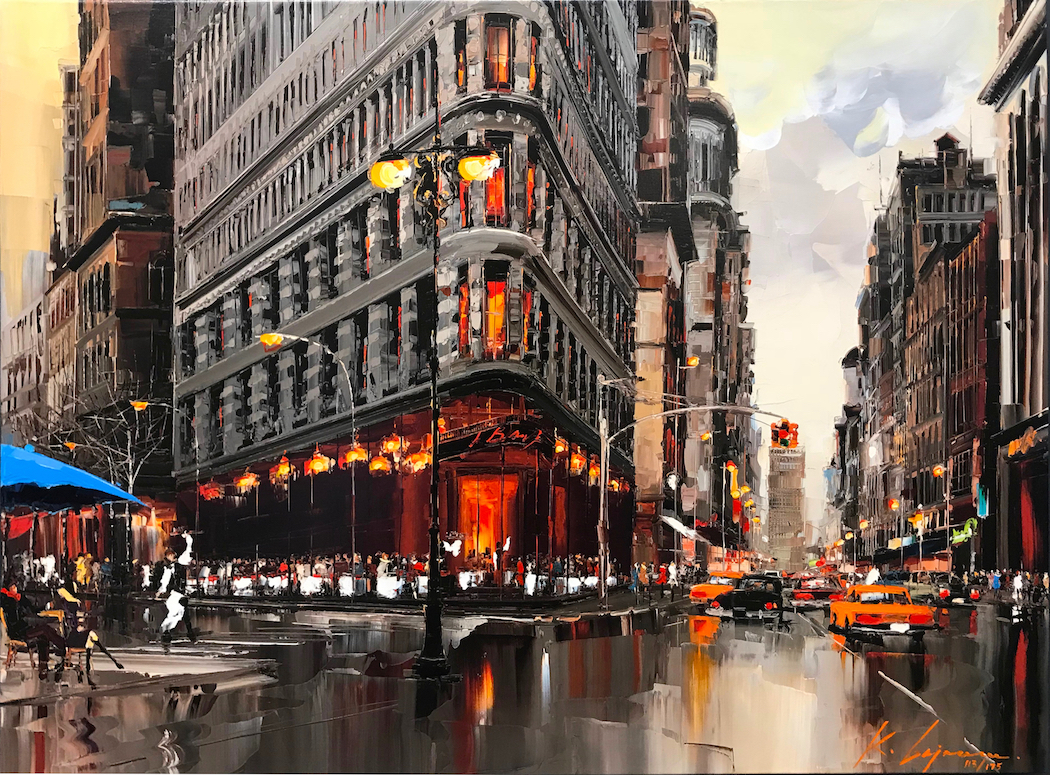 """Attention New York""  Size: 30"" x 40"" or 36"" x 48""  Limited edition giclée print on canvas, hand-detailed by the artist. Series of 199."