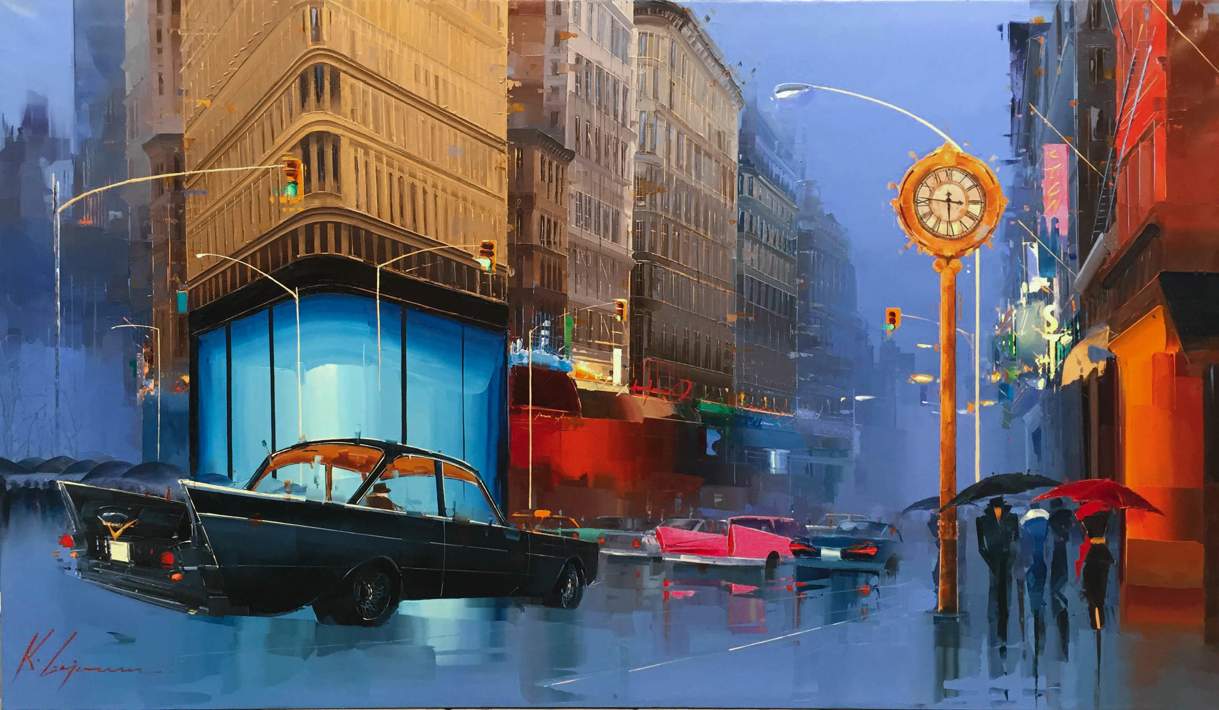 """New York Classic""  Size: 45"" x 76""  Original oil on canvas"