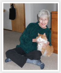 Leilani Bangs with her cat Marmalade, adopted from Wenatchee Valley Humane Society.