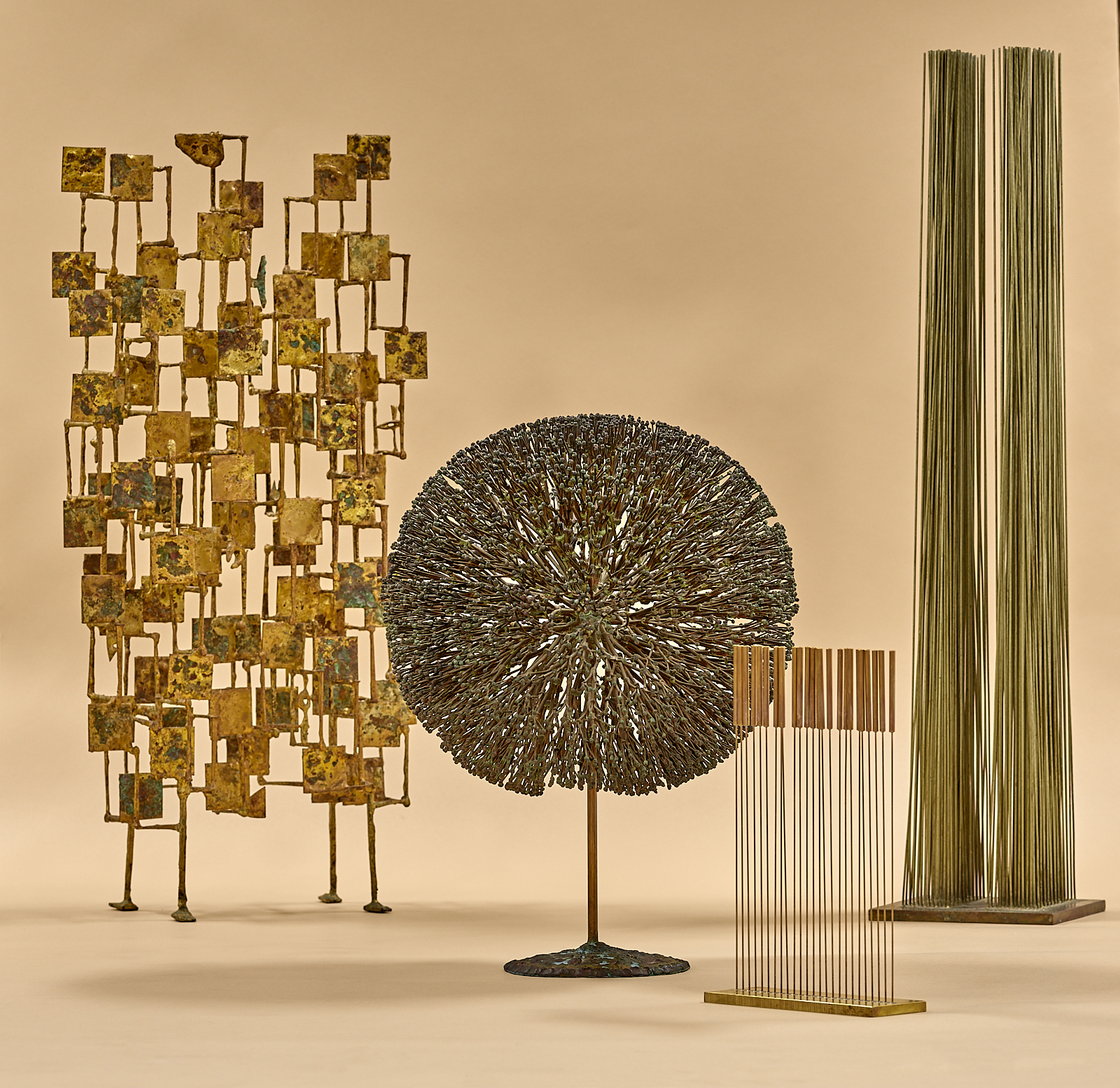 Harry Bertoia Sculptures + Harry Bertoia Foundation Table Tonal ll